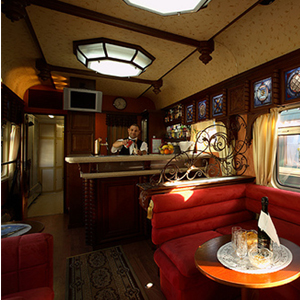 Trem Golden Eagle na Rota Transiberiana