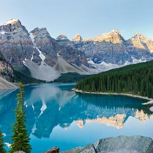 Montanhas Rochosas Canadenses de Trem
