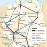Mapa Ferroviário da Alemanha