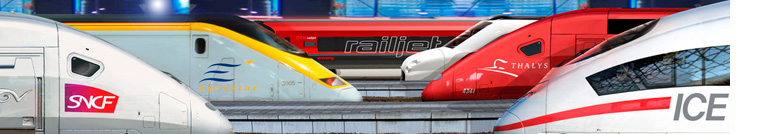 passagem de trem europa