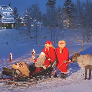 Lendas de Natal com Papai Noel e Réveillon em Estocolmo