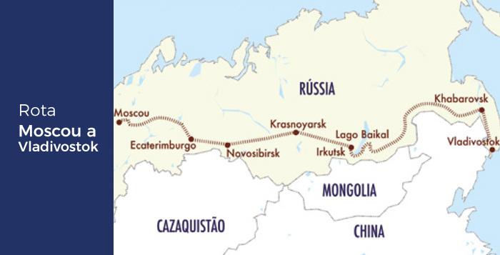 Rota Moscou Vladivostok