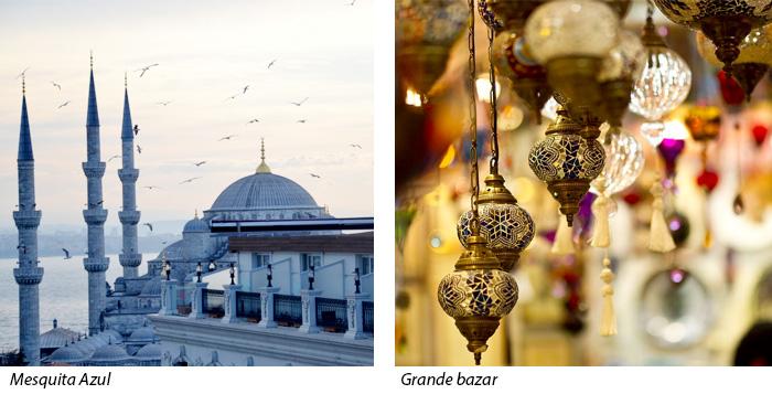 Mesquita Azul e Grande Bazar - Turquia