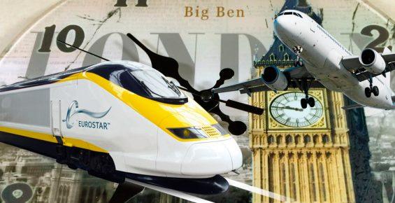 Viajar de Paris a Londres de trem ou avião?