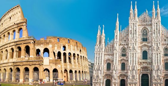 Como ir de Roma para Milão: Avião, Carro ou Trem?