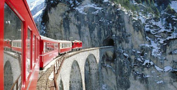 Suíça de trem: vem, vai ter neve!