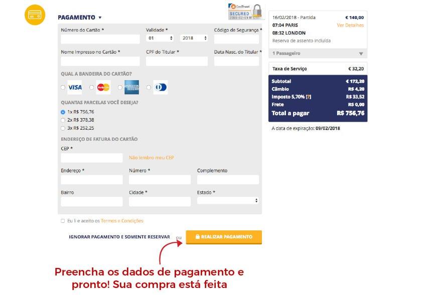 Como comprar passagem de trem online