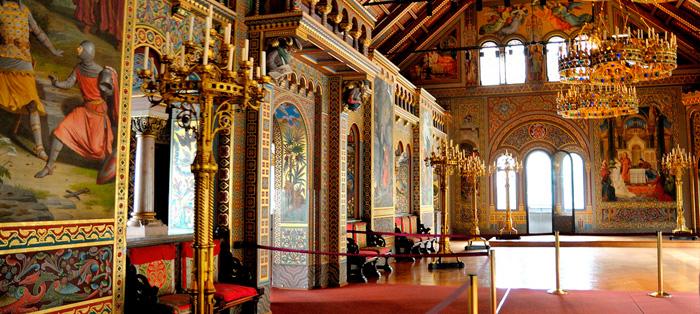 Interior do Castelo de Neuschwanstein