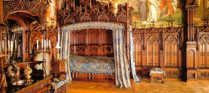 Dormitorio do Castelo de Neuschwanstein