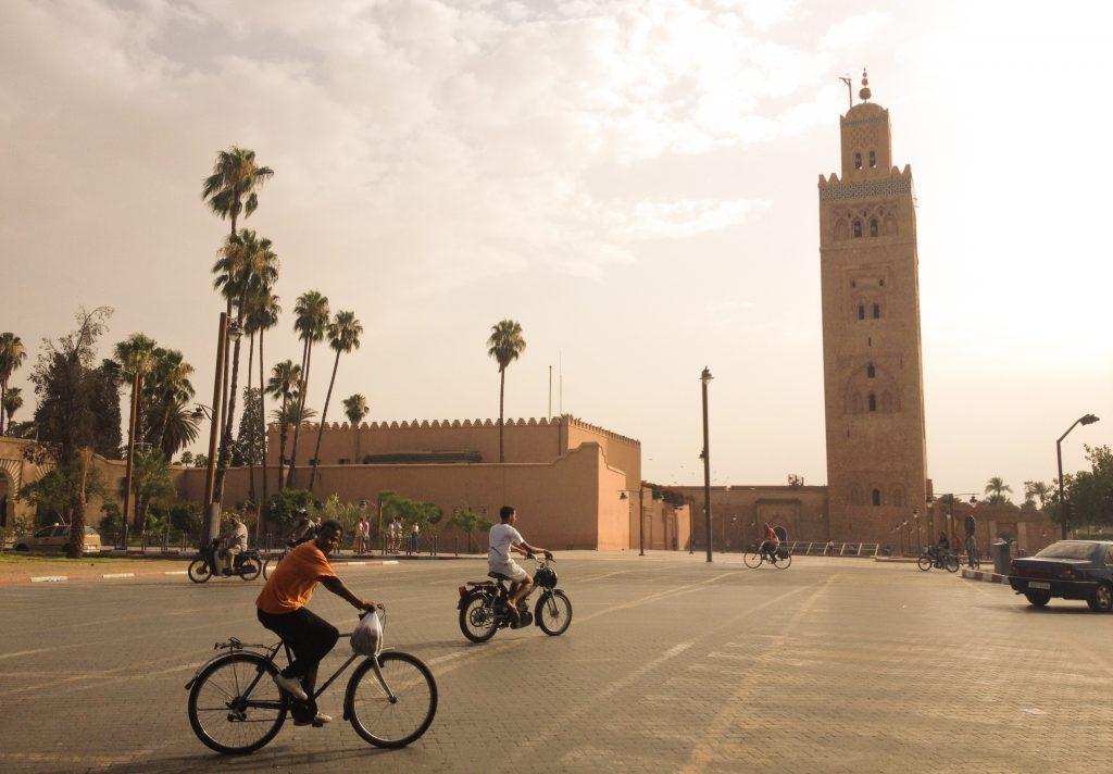 Minarete da Mesquita Koutoubia. Cidade velha, Marrakech. Foto por Karina Cordeiro.