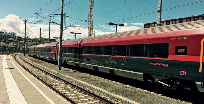 Trem de Viena a Budapeste