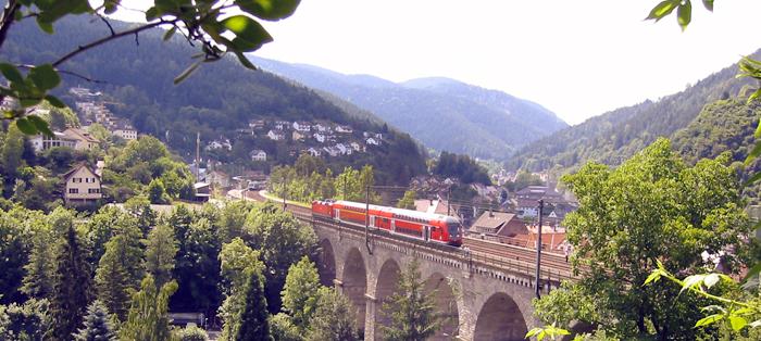 Floresta-Negra trem